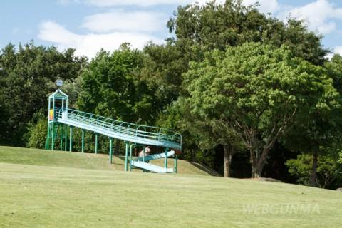 丘陵地を利用したローラー滑り台