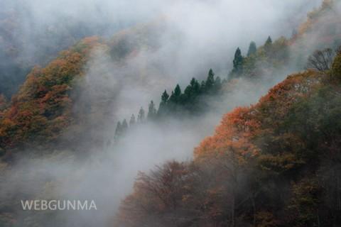 不二洞の秋景色