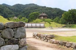 楽山園梅の茶屋遠望