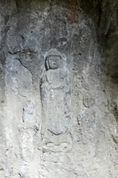 関の磨崖仏の仏像