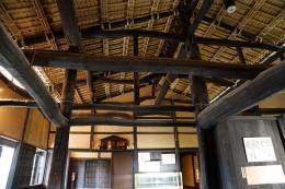 旧茂木家住宅の屋根内側