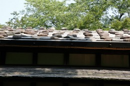 旧茂木家住宅の板葺屋根